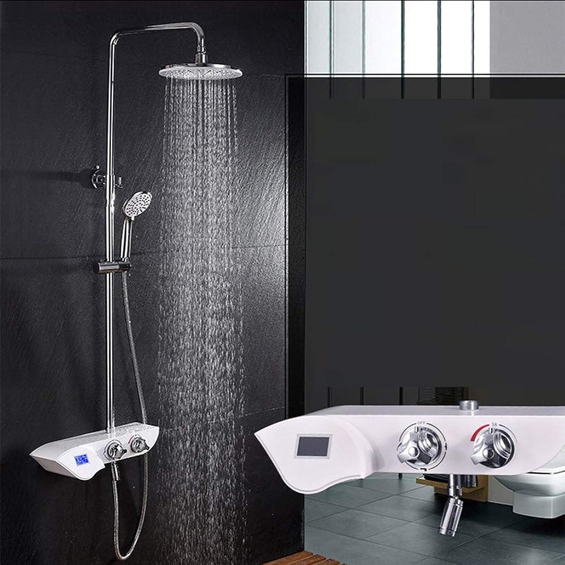 逃げる目覚める考慮シャワーセット シャワーヘッド シャワー セット レインシャワー 高水圧 蛇口 降雨 浴室用 耐久性 取付簡単 ZHQJP