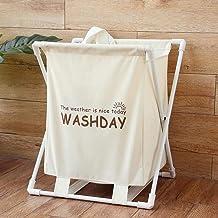 Household large-capacity storage bag Hanging bag White Fold Oxford Dirty Clothes Basket Laundry Baskets Towel Towel Barrel...