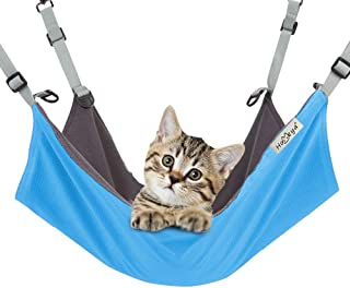 Pet Hammock Hamster Hanging Toy, Metacrafter Small Pet Pad Bed for Guinea Pig,Chinchilla,Kitten,Cat,Ferret,Mice,Rabbit,Squirrel Playing Cozy Spot-Waterproof Reversible 2 Sides-Use with Cage(22x17inch)