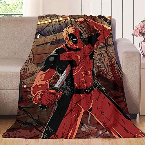 Elliot Dorothy Deadpool Avengers Movie Comic Cool Duel baby blanket 35'x60' Warm Elegant Flannel Blanke