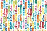 AccuPrints Design Happy Birthday Wrapping Paper Sheets (18 x 25 inch/30 x 45 cm) - Pack of 10
