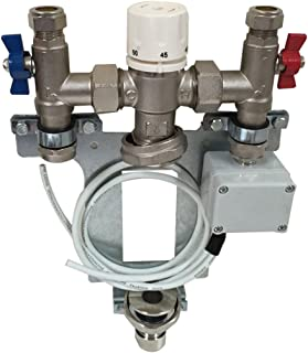Single Zone Underfloor Heating Manifold For Small Rooms or Extensions with Thermostatic Blending Valve Integral Ball Valve...