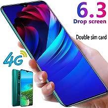 L-PH Smart Phone 4800mAh 10 Core Android 9.1 Fingerprint Face Unlock Phone/6.3 inch 4G LTE Dual SIM Green (Color : 3+64g)