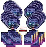 Disney Onward Happy Birthday Party Supplies Bundle Pack for 16 Guests (Plus Party Planning Checklist by Mikes Super Store)