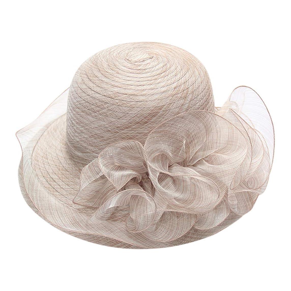 Togethor Wedding Hat Women's Organza Church Bridal Tea Party Summer organza big along the basin cap folding beach hat