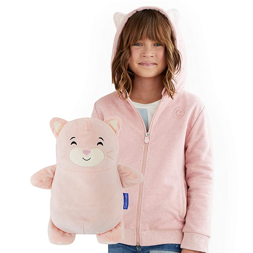 CUBCOATS Kali The Kitty - 2-in-1 Transforming Hoodie & Soft Plushie - Soft Pink