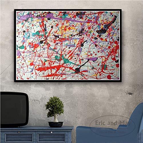 ganlanshu Rahmenlose Malerei Abstrakte Kunstplakate und Leinwandbilder auf Vintage-Wanddekorationsgemälden schmücken WohnkulturZGQ3860 50X75cm