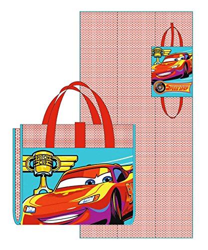 Cars Natte de plage pliable enfant garçon Rouge/bleu 75 x 150 cm