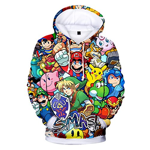 CTOOO 2018 Damen Und Herren 3D Mario Kapuzenpullover Hoodies Sweatshirt Loose Fit Mode Pullover Jacket XXS-XXXL