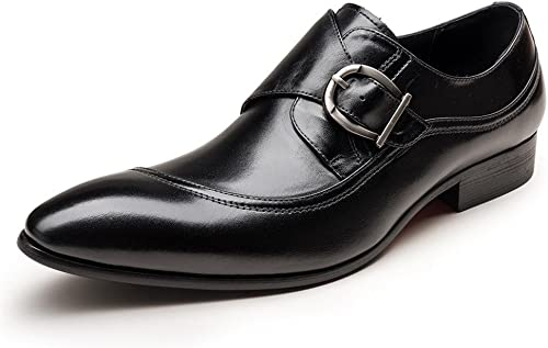 herren Inteligente Oxford Formal Negocio Lace Up Cuero schuhe Puntiagudo Dedo del pie schwarz braun Boda Oficina Trabajo , schwarz , EUR 39  UK 6