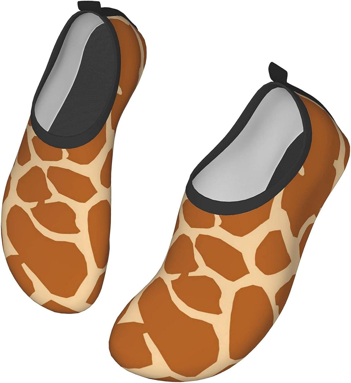 GHYGTY Giraffe Skin Print Pattern Womens Mens Water Shoes Barefoot Quick-Dry Aqua Socks for Beach Swim Surf Yoga Exercise 36/37