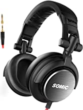 SOMIC MM185 Foldable Over Ear Music DJ Headphones, Headsets Noise Cancelling Bass Hi-Fi Light-Weight Stereo Isolation Earphone for Studio Monitoring and Mixing