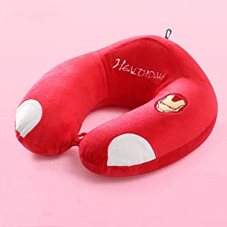 Memory Cotton U-Shaped Pillow Portable Travel Neck Pillow Flying Pillow Foldable MJZDD (Color : E)