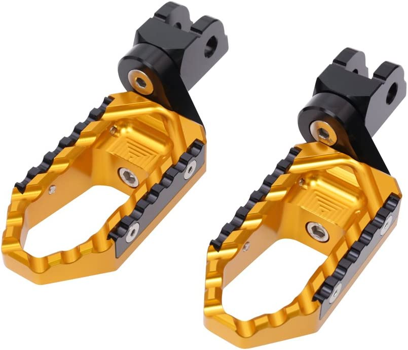 MC MOTOPARTS Gold CNC Many popular free shipping brands 25mm Adjustable Foot Front P Riser Touring