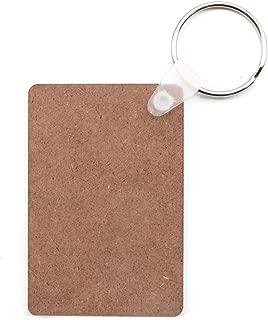 JETEHO 20 Pcs Sublimation Heat Transfer Keychain Blanks Wooden Hard Board MDF Keycains