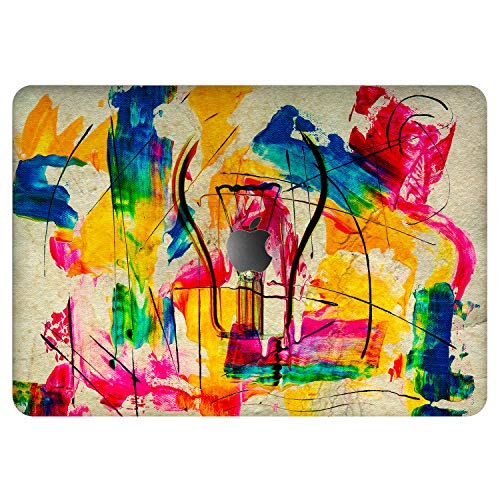 Vonna Vinyl Decal Skin for Apple MacBook Pro 16' 2019 Pro 13' 2020 Retina 15' Air 13' Mac Air 11 Mac 12 Sticker Colorful Cover Print Smart Girl Protective Design Cute Abstract Artwork Painted vm748