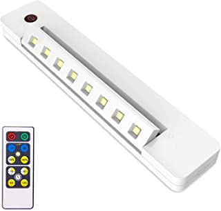 BIGLIGHT Under Counter Lights Battery Operated, Swivel Closet Light with Remote & Touch Sensor, Wireless Under Cabinet Lig...