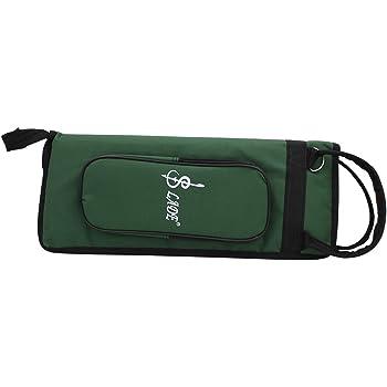 Tbest Stick Bag Baqueta Bolsa, Espesar Acolchado Bolso de Tambor Estuche Oxford Resistente al Agua con Correa Rojo, Verde, Azul(Azul): Amazon.es: Deportes y aire libre