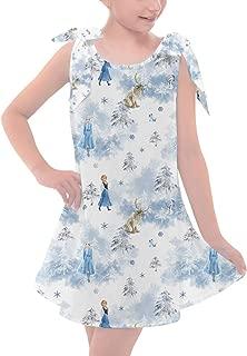 Rainbow Rules Winter Landscape Frozen 2 Disney Inspired Girls Shoulder Bow Dress