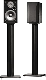 "SANUS BF31-B1 31"" Speaker Stands for Bookshelf Speakers up to 20 lbs – Black.."