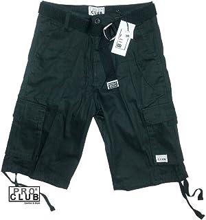 Pro Club Men`s Twill Cargo Short Pants - Black