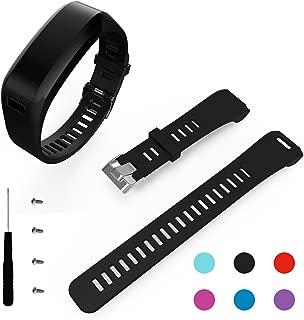 BeneStellar Garmin Vivosmart HR Band, Replacement Soft Silicone Bracelet Sport Strap Wristband Accessory with Screwdriver for Garmin Vivosmart HR(No Tracker, Replacement Bands Only) (1-Pack Black)