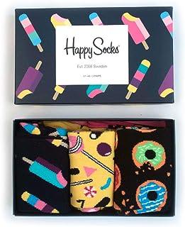 Happy Socks Unisex 3-Pack Sweets Gift Box Socks, UK 7-11 EUR 41-46 (3er Pack)