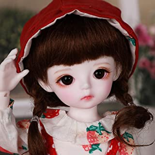 BJD Girl Doll,10-Inch with Silky Hair and Makeup Face, Wearing Exquisite Clothes and Shoes, Great Gift for 3 Year-Olds and...