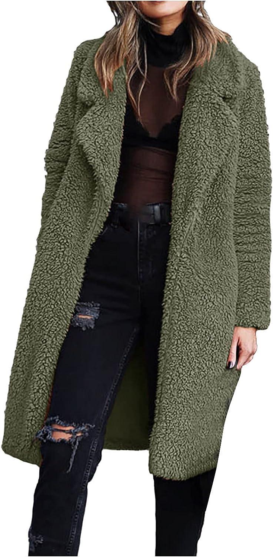 ayaso Winter Coats for Women Full Zip Hoodie Jacket Long Sleeve Faux Long Sweatshirts Oversized Solid Windbreaker