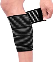 2 Pack Sports Knee Wraps, Extra Long Elastic Knee Braces Compression Bandage Brace Support for Cross Training WODs,Gym Wor...