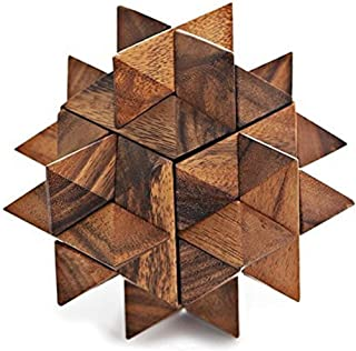 Giant Star Puzzle Wooden Puzzle Games Set - 3D Puzzles for Teens and Adults Toy Game by Art Decor.