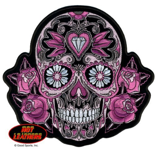 11 x 11 Hot Leathers 11 x 11 Officially Licensed Originals Exceptional Quality Iron-On // Saw-On Rayon PATCH Iron-On // Saw-On Rayon PATCH CROSS; MOTOR AND SKULL