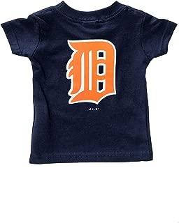 Detroit Tigers Kid's Navy Primary Team Logo T-Shirt