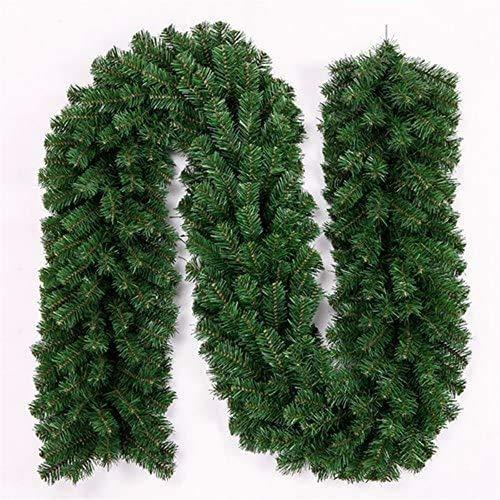 amzmonnsuta 2pcs 2.7m クリスマスリース 大きい モール 玄関 ドア クリスマス 飾り ガーランド 装飾 籐 オーナメント 松の葉