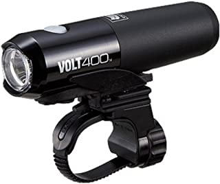CAT EYE EL461 KIT - Volt 400 Rechargeable Headlight with Spare Battery and Charger, Black, Small