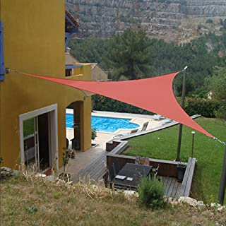 Artpuch Sun Shade Sails Canopy, 185GSM Shade Sail UV Block for Patio Garden Outdoor Facility and Activities (16'x16'x16', Rust Red)