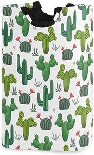 N\A Panier à Linge, paniers de Rangement de Linge de Fleur de Cactus Tropicales vêtements Pliables Sac Organisateur de Jou...