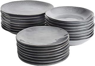 ProCook Malmo - Service de Table en Grès - 24 Pièces/Pour 8 Personnes - Petite Assiette, Grande Assiette & Assiette Creuse...