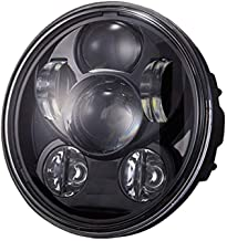 Funlove 5-3/4 5.75 Inch 45W Round Projector LED Headlight DOT for Harley Davidson 883 SportsterTriple Motorcycles