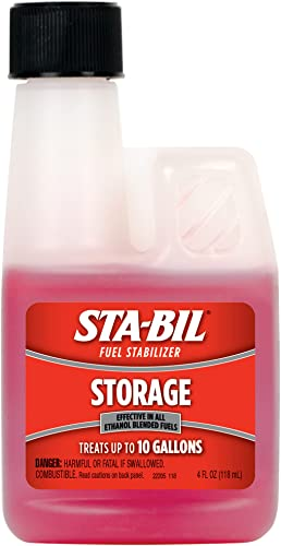 2021 STA-BIL Storage Fuel Stabilizer - Guaranteed online To Keep Fuel Fresh Fuel Up To Two Years - Effective In All Gasoline Including All Ethanol lowest Blended Fuels - For Quick, Easy Starts, 4 fl. oz. (22205) outlet online sale