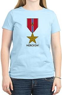 CafePress Bronze Star with 'V' for Valor - Crew Neck Tee