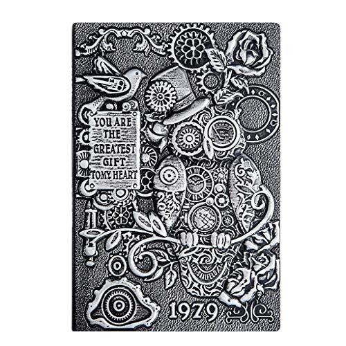 cuadernos de notas A5 Cuaderno for los estudiantes universitarios, Diario 146 * 212 mm * 5,7 8,3 En tridimensional Alivio Bloc de notas, Cuenta de mano retro del libro Diario de regalo blocs de notas