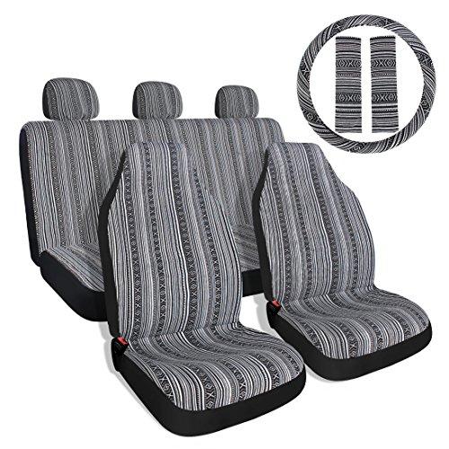 10pc rayas colorido cubierta del asiento baja azul sillín asiento Universal de...