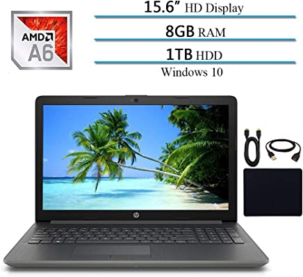 HP Pavilion 15.6 HD 2019 Newest Thin and Light Laptop Notebook Computer, Intel AMD A6-9225, 8GB RAM, 1TB HDD, Bluetooth, Webcam, DVD-RW, WiFi, Win 10 W/ 29.9 Accessories Bundle