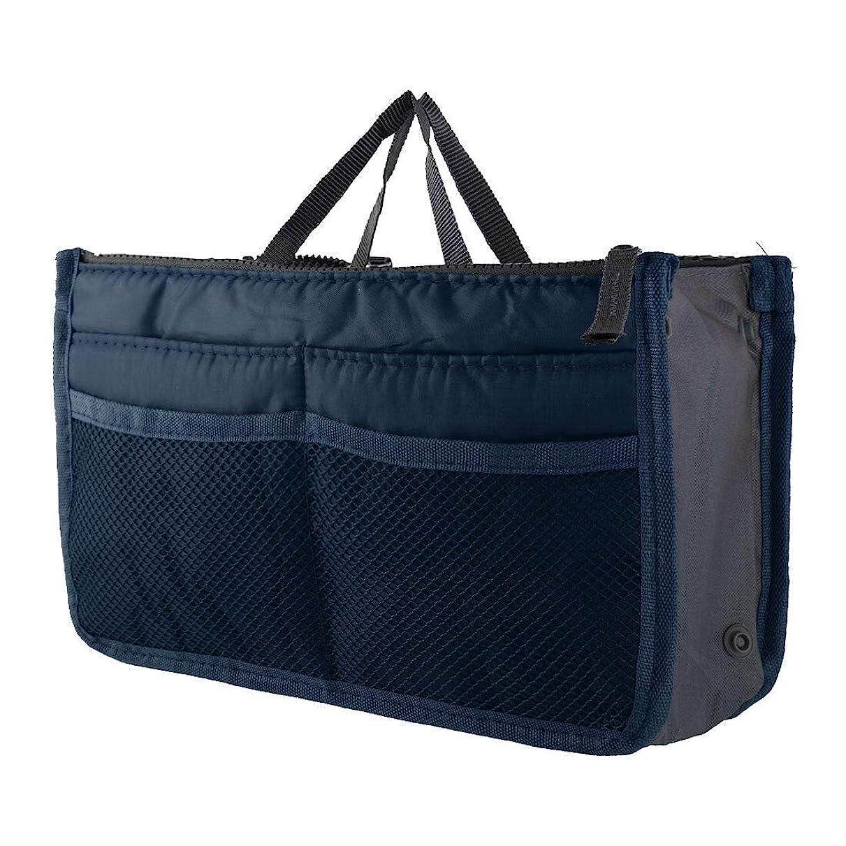 国勢調査小石意図的FidgetGear Large Womens Wash Bag Toiletry Cosmetic Travel Make Up Handle Folding Organizer Navy Blue