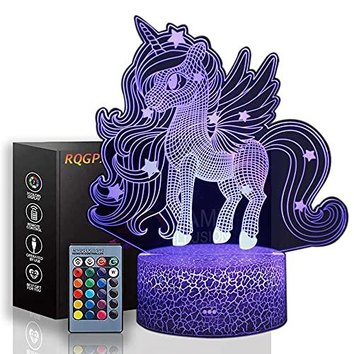 Lámpara de ilusión óptica LED 3D con diseño de unicornio, regalo perfecto para niños y decoración de habitación Darth Vader