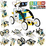 POKONBOY 13-in-1 Robot Kit Solar Robot Creation Toy,Educational Science Experiment Kit DIY Robotics Kit Solar Powered STEM Robotics Building Kits for Teens Kids to Build
