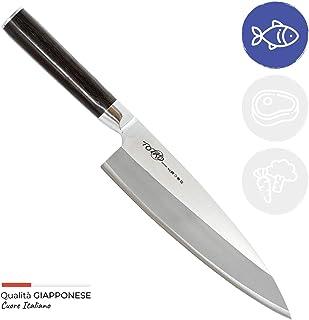 Totiko Japan Knives, cuchillo de cocina japonés profesional, Deba Sakai 18,5 cm - 6 pulgadas