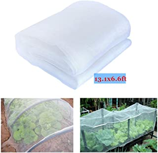 YBB 13.1'x6.6' Bug Insect Garden Barrier Netting Plant Cover, Thicken Mosquito Bird Screen Hunting Blind Garden Mesh Net for Protect Plant Fruits Flower