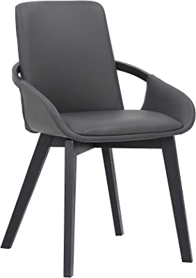 Armen Living Greisen Modern Wood Dining Room Chair, Grey/Charcoal
